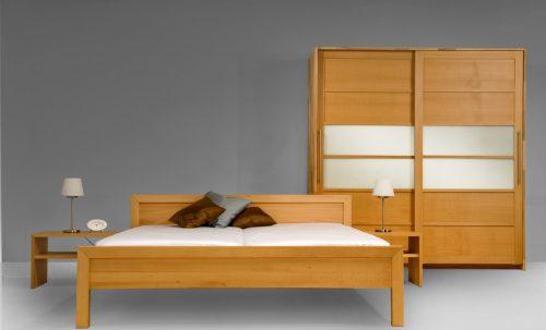 Bett und Schrank für Schlafzimmer